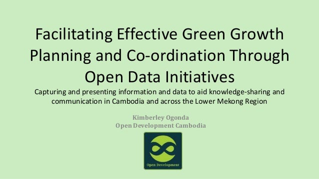 Facilitating Effective Green Growth Planning and Coordination Through Open Data Initiative