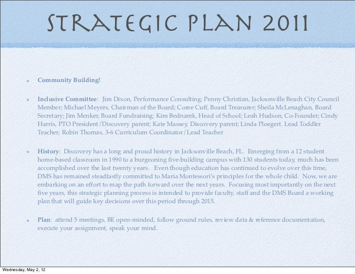 Business school strategic plan