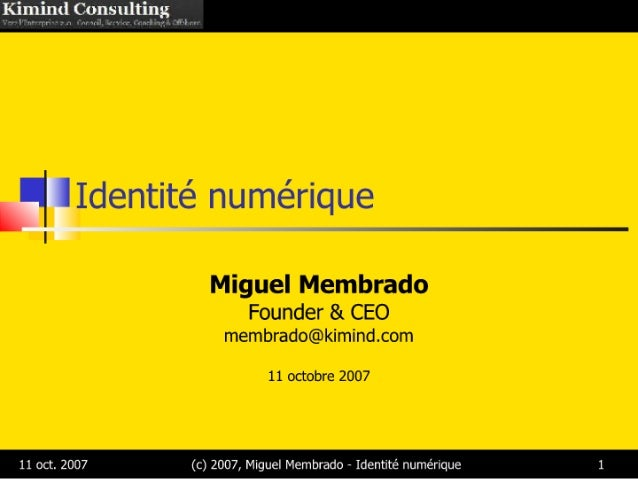 Kimind   Identité Numérique