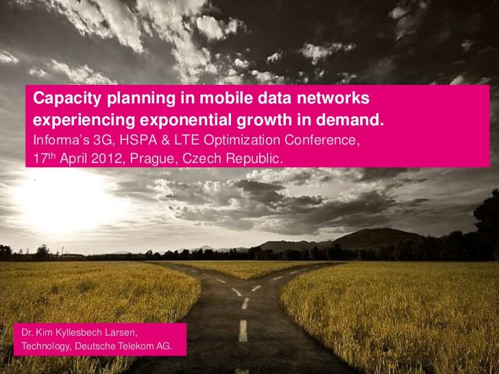 Capacity planning in mobile data networks experiencing exponential growth in demand