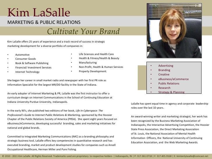 Kim La Salle Marketing & Public Relations, Indianapolis