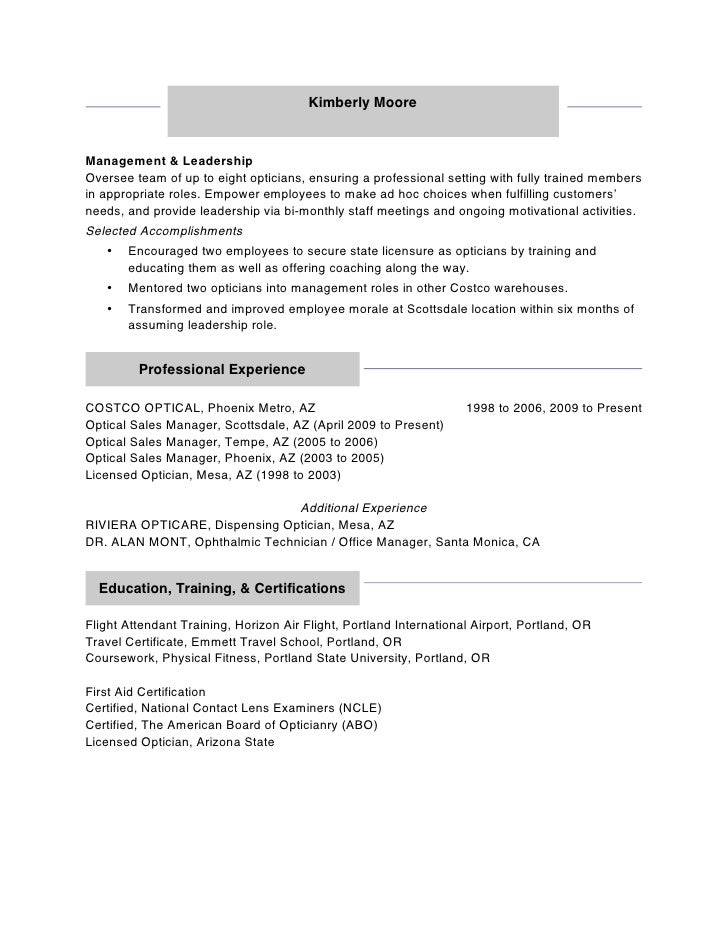 optical cover letter