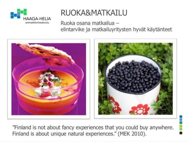 Kim Palhus ruokamatkailu RUOKA&MATKAILU-päivässä 1.11.2013
