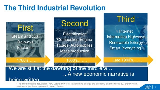 third industrial revolution The office of jeremy rifkin – 4520 east west highway, suite 600 – bethesda, md, usa 20814 contact: shawn moorhead – shawn@foetorg – 301 656 6272.