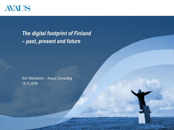 Kim Weckström   The Digital Footprint of Finland