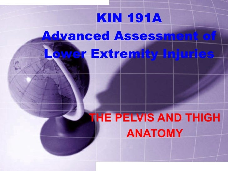 KIN 191A Advanced Assessment of Lower Extremity Injuries THE PELVIS AND THIGH ANATOMY