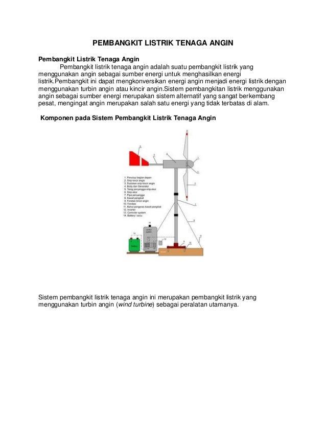 PEMBANGKIT LISTRIK TENAGA ANGIN Pembangkit Listrik Tenaga Angin Pembangkit listrik tenaga angin adalah suatu pembangkit li...