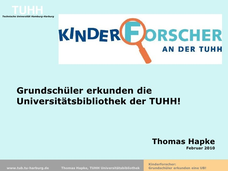 TUHH                                                         Kinderforscher Technische Universität Hamburg-Harburg        ...