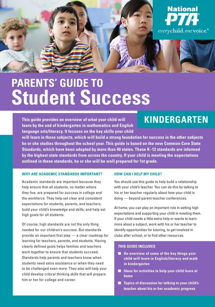 PARENTS' GUIDE TO PARENTS' GUIDE TOStudent SuccessStudent Success This guide provides an overview of what your child will ...
