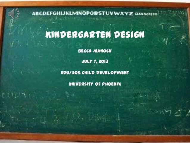 Kindergarten design presentation