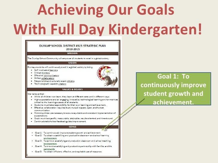 Full Day Kindergarten Presentation; September 2011