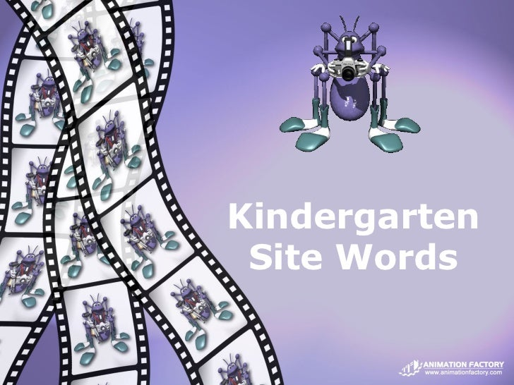 Kindergarten Site Words