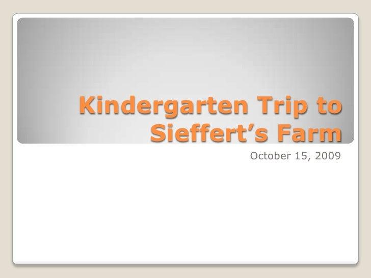 Kindergarten Trip to the Fish Hatchery<br />October 20, 2009<br />