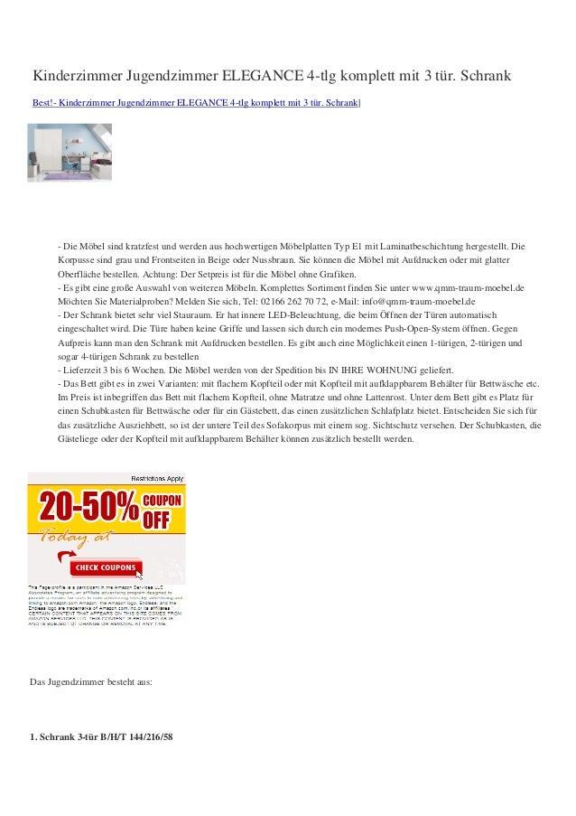 Kinderzimmer Jugendzimmer ELEGANCE 4-tlg komplett mit 3 tür. SchrankBest!- Kinderzimmer Jugendzimmer ELEGANCE 4-tlg komple...