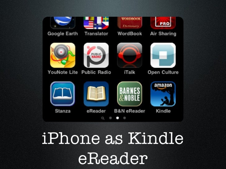 iPhone as Kindle eReader