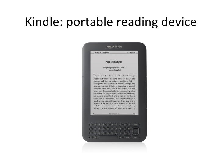 Kindle: portable reading device