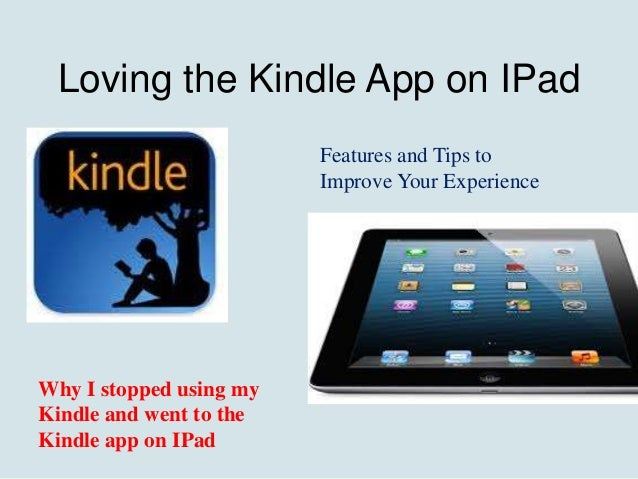 switch kindle books to ipad