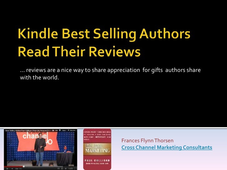 … reviews are a nice way to share appreciation for gifts authors sharewith the world.                                     ...