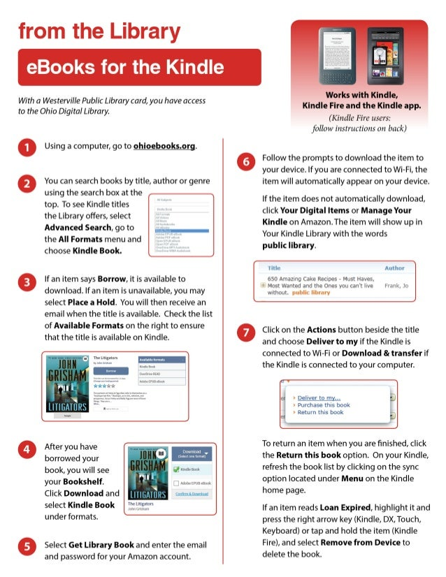 eBooks from the Library: for the Kindle
