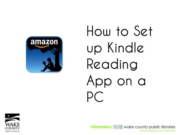 How to Setup KindleReadingApp on aPC