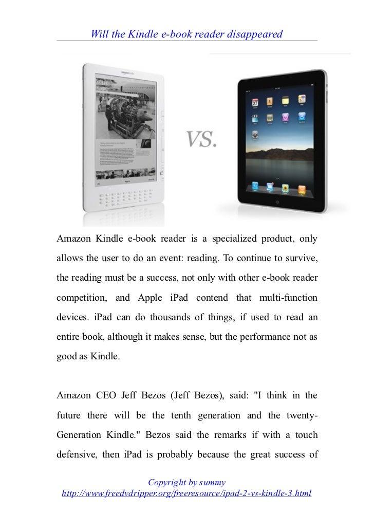 Kindle vs i pad