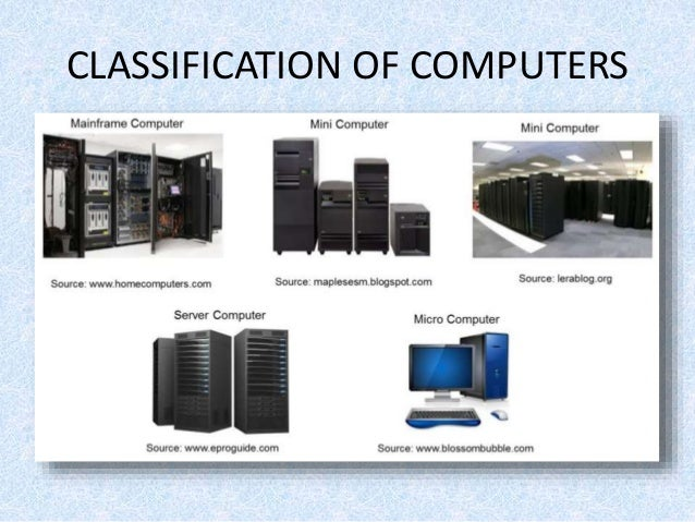 classification types of computers