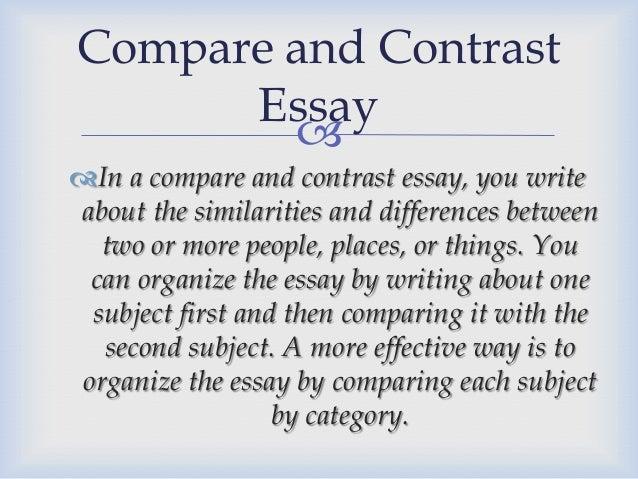 College Compare And Contrast Essay