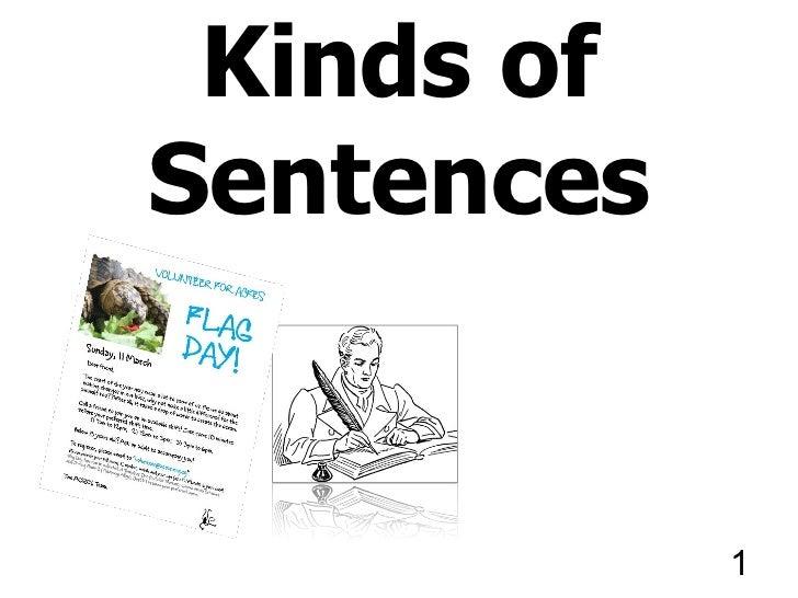 Kinds ofSentences            1