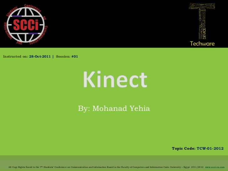 Instructed on: 28-Oct-2011 | Session: #01                                                             By: Mohanad Yehia   ...