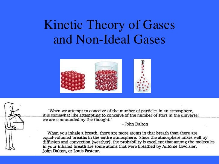 Kinetic theory and non ideal gases