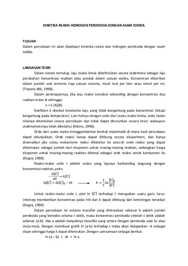Kinetika reaksi hidrogen peroksida dengan asam iodida (repaired) (repaired)
