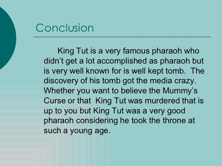 research paper on king tut Free king tut papers, essays, and research papers.