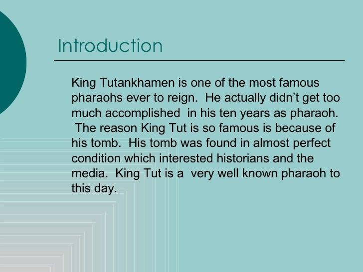 King tut essay