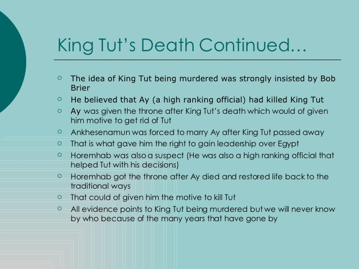 5 paragraph essay on king tut King tut essays: over 180,000 king tut essays, king tut term papers, king tut research paper, book reports 184 990 essays, term and research papers available for unlimited access.