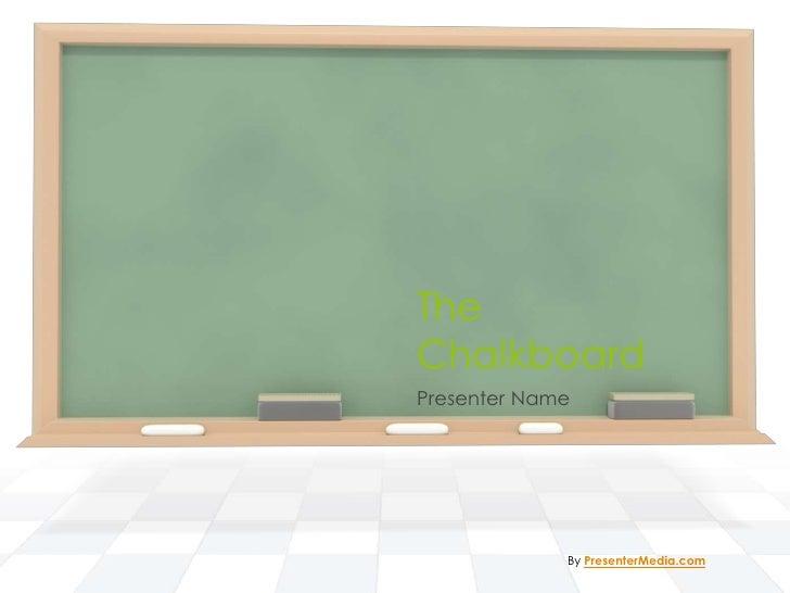 TheChalkboardPresenter Name             By PresenterMedia.com