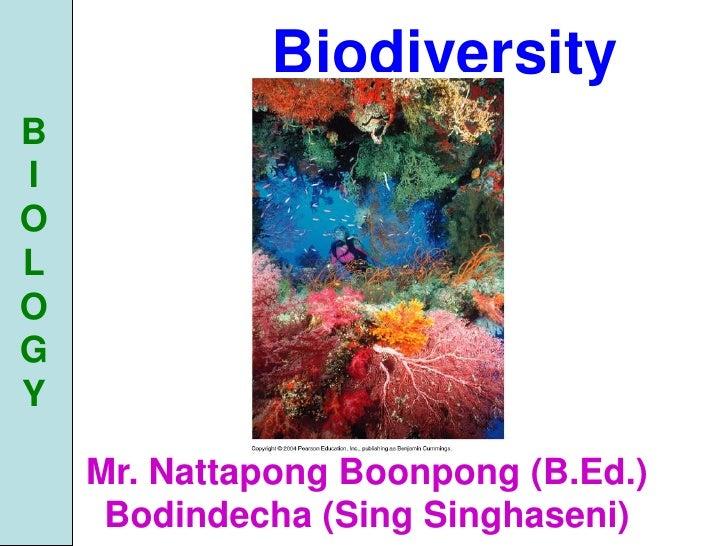 Biodiversity B I O L O G Y      Mr. Nattapong Boonpong (B.Ed.)      Bodindecha (Sing Singhaseni)
