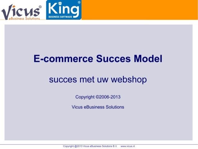 King Software en Vicus eBusiness Solutions - Het Ecommerce Succes Model met Magento aan King - ontbijtsessie 6 juni 2013
