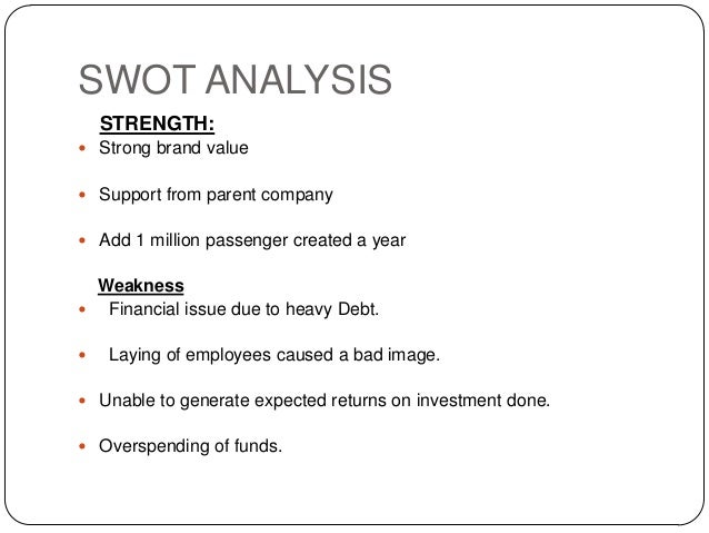 swot kingfisher airlines Swot and pestle analysis of indian airline company kingfisher airlines and how it become the most prominent airlines in indian subcontinent  competitive study of indian airline company kingfisher airlines tourism essay print reference this  i also saying about the swot analysis of kingfisher airlines and what are the marketing tactics.