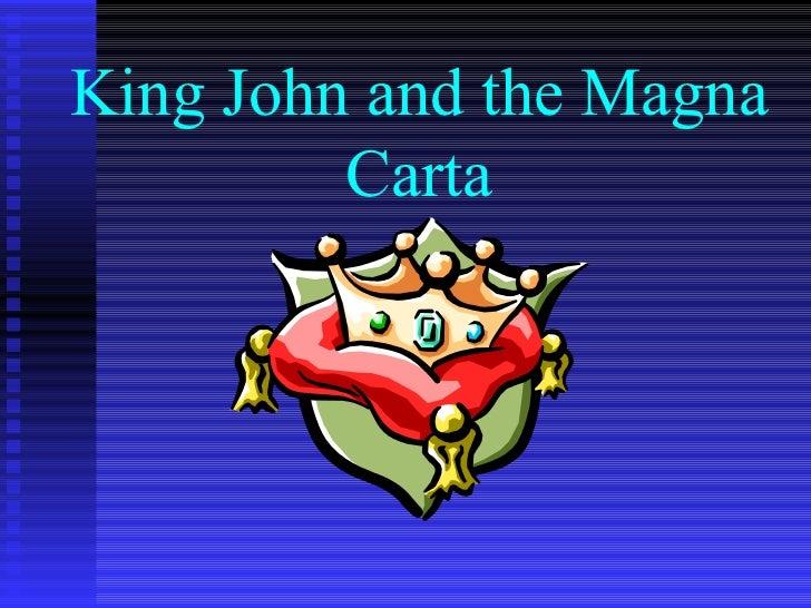 King John and the Magna Carta