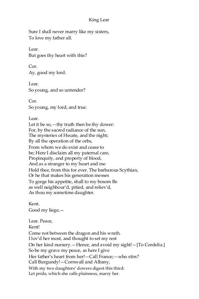 Critical Essay On King Lear