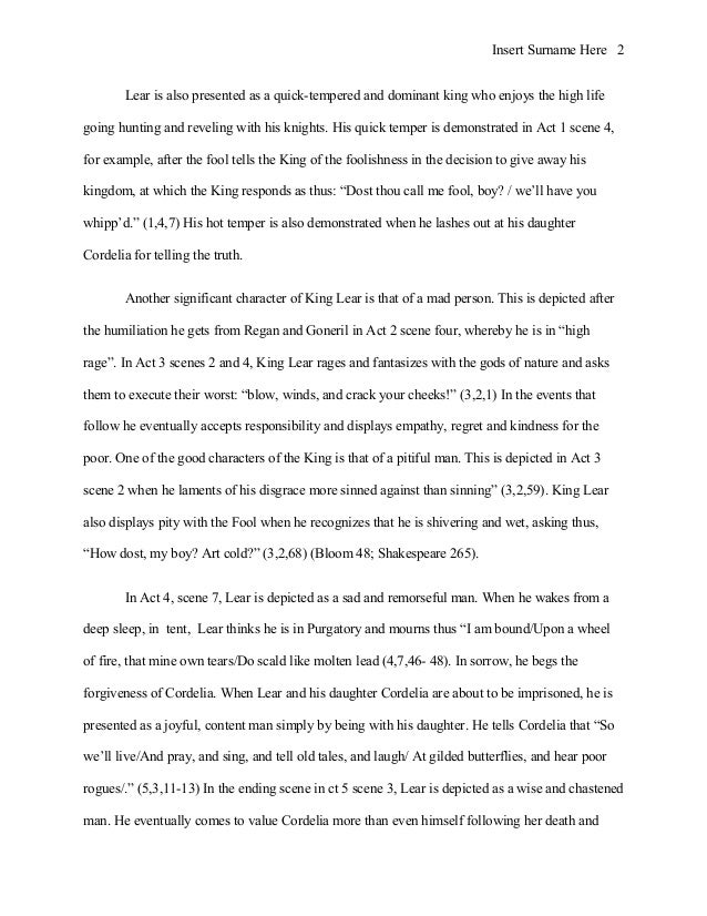 essay questions for king lear Free essay: king lear act iii study questions scene i 1 kent reveals to the gentlemen that tension between regan's husband (albany) and goneril's husband.