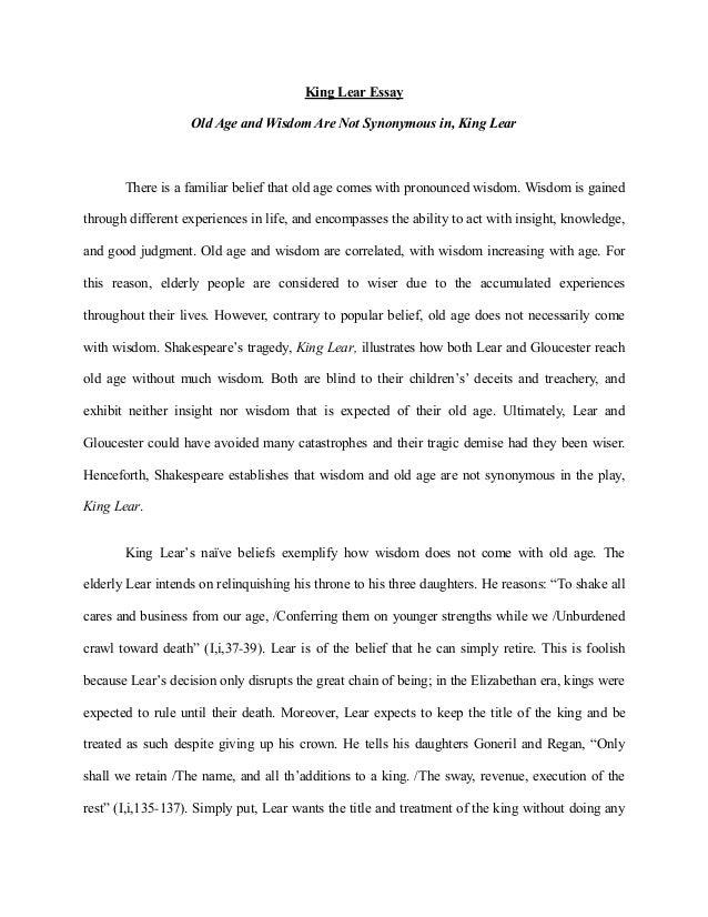King lear essays betrayal