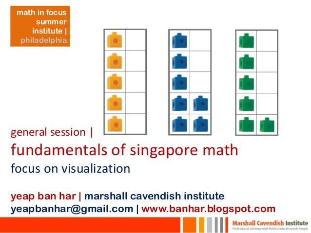 general session | fundamentals of singapore math focus on visualization yeap ban har | marshall cavendish institute yeapba...