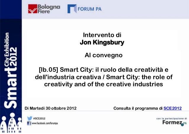 Jon Kingsbury a SCE 2012