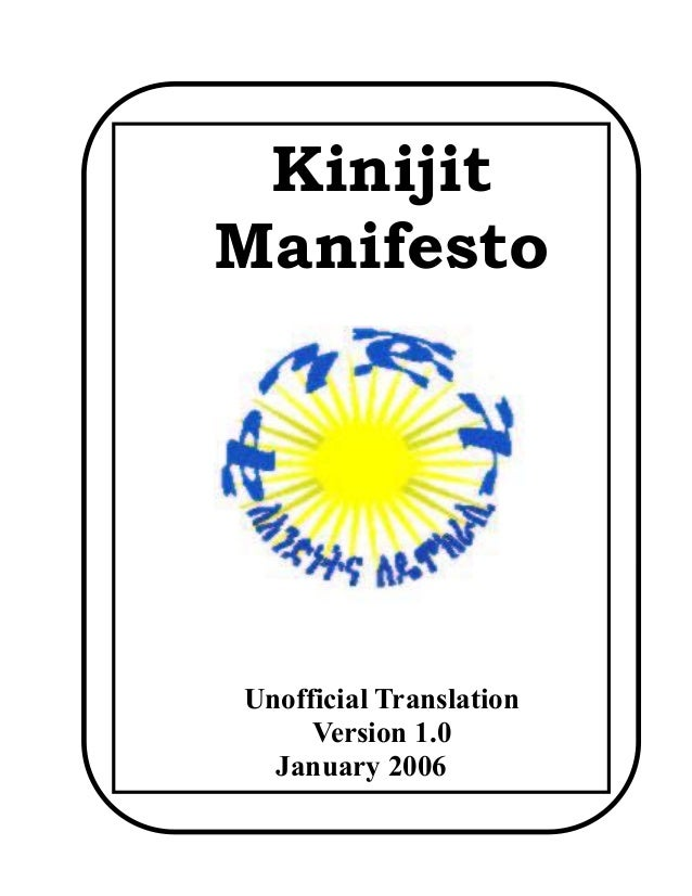 Kinijit Manifesto  Unofficial Translation Version 1.0 January 2006