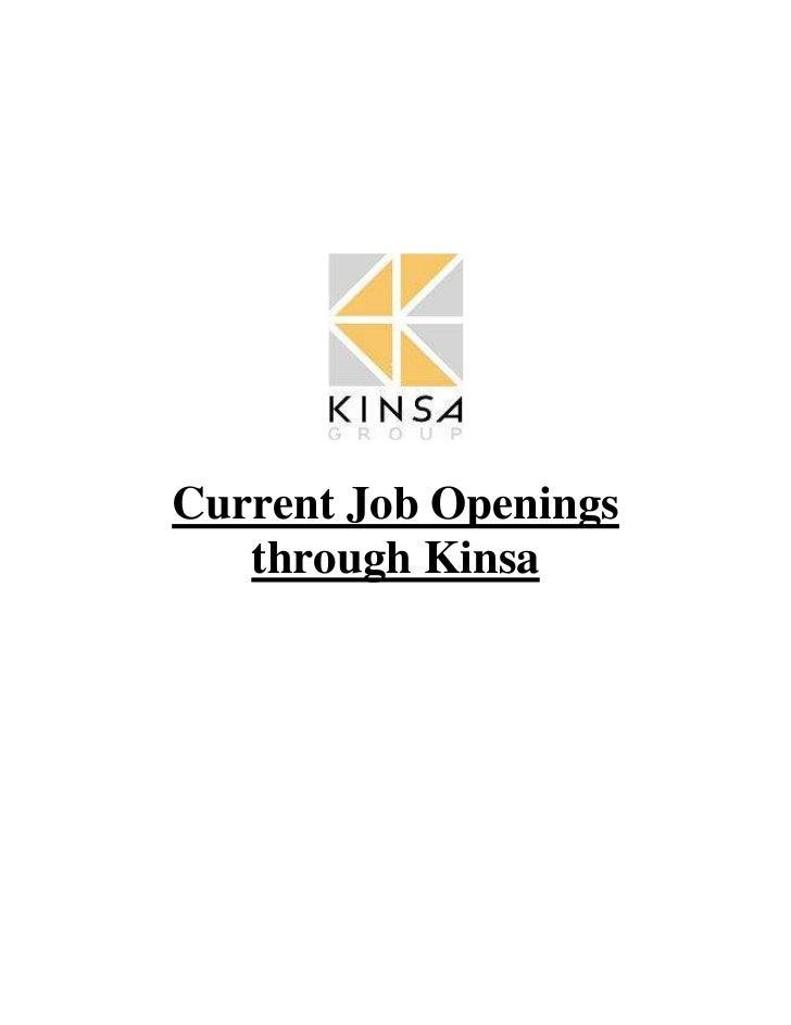Kinsa group job postings