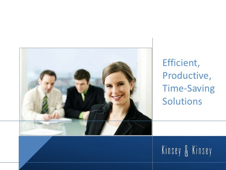 Efficient, Productive, Time-Saving Solutions<br />