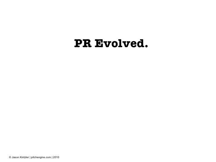 PR Evolved.