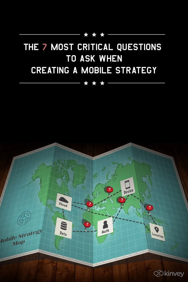 The 7 Most Critical Questionsto Ask WhenCreating a Mobile Strategy?????
