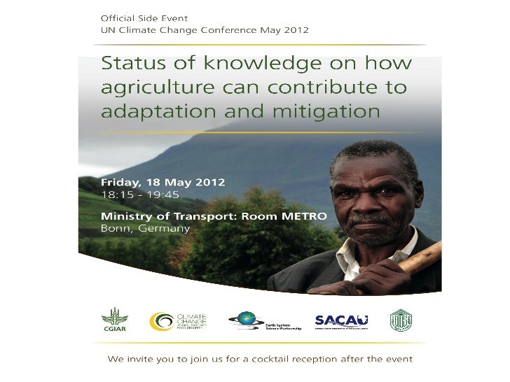 Event name                    TitleStatus of knowledge on howagriculture can contribute toadaptation and mitigation       ...